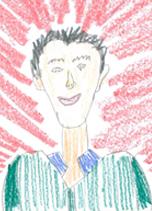 student illustration of Board of Directors member Kirk Reidinger