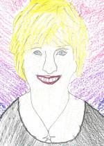 student illustration of Board of Directors member Linda Saville